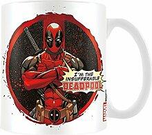 Keramik-Becher mit Deadpool-Design Insufferable, mehrfarbig