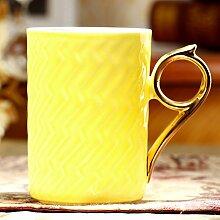 Keramik-Becher mit Deckel European-Style am Nachmittag Teetasse Bone China Becher Geschenk Tasse Kaffeetasse-F