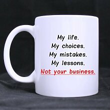 Keramik Becher mit Funny Weiß My Life My Choices