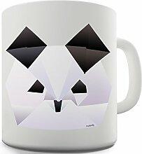 Keramik-Becher mit Origami-Panda Keramiktasse