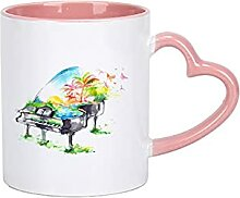 Keramik-Becher, Vintage-Becher Blumen-Tee-Set