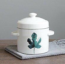 Keramik-Dampfgarer mit doppeltem Deckel