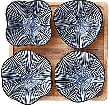 Keramik-Dinner Bowls Set von 4, 4 Zoll Teller Set