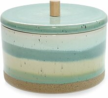 Keramik Dose ECOLO Vorratsdose Türkis Grün Keramikdose Skandinavisch Küche Modern 15,5 cm Exner