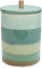 Keramik Dose ECOLO Vorratsdose Türkis Grün Keramikdose Skandinavisch Küche Modern 18 cm Exner