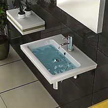 Keramik Eckig Waschbecken Waschtisch Handwaschbecken Weiss 60 Cm Waschtisch