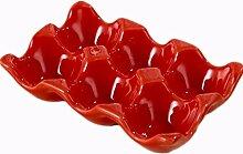 Keramik-Eierbox für 6 Eier, zur Aufbewahrung im