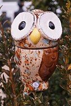 Keramik Eule Pia beige für Stab 13 cm