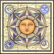Keramik Fliesen - Celestial Träume mit Rahmen -