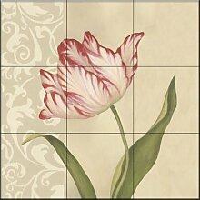 Keramik Fliesen - Cream tulpen von Debra Lake -