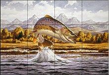 Keramik Fliesen - Cutthroat Trout - von John Rice