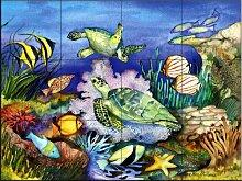 Keramik Fliesen - Grüne Meeresschildkröten - von