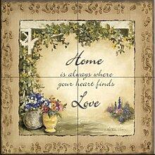 Keramik Fliesen - Home Sweet Home - von Charlene