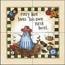 Keramik Fliesen - Jeder Bird - von Carol Robinson