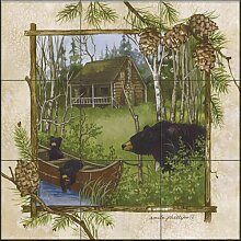 Keramik Fliesen - Log Cabin - von Anita Phillips -