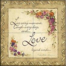 Keramik Fliesen - Love Beyond Words - von Charlene