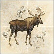 Keramik Fliesen - Moose 5 - von Judy Gibson -