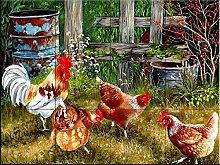 Keramik Fliesen - Pickin Chickens- von Val Stokes