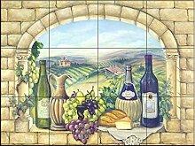 Keramik Fliesen - Tuscan Wine - von Rita Broughton