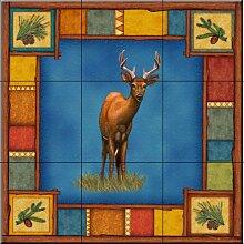 Keramik Fliesen - Wildnis Deer - von Dan Morris -