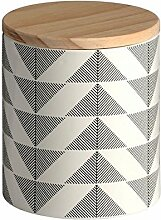 Keramik Geometrische Vorratsdose