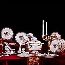 Keramik Geschirrset 58 European Style Bone