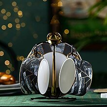 Keramik-Kaffee-Tee-Set Diamant-förmigen