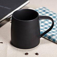 Keramik Kaffeetasse mark Cups kreative Paare wasser schale Milch Schale Milch Becher Geschenk Schale, schwarz schwarze Männer und Frauen Getränkehalter
