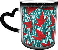 Keramik-Kaffeetasse, Origami-rotes