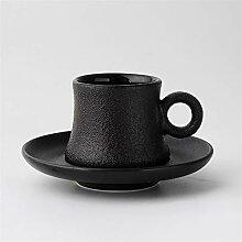 Keramik Kaffeetasse Set Black Frost