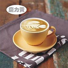 Keramik Kaffeetasse Set Tasse & Untertasse Cappuccino Becher Set Geschenkbox, A01