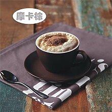 Keramik Kaffeetasse Set Tasse & Untertasse Cappuccino Becher Set Geschenkbox, A03