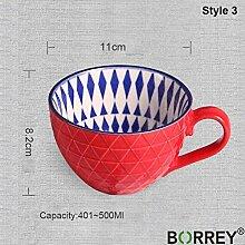Keramik Kaffeetasse Tasse Große Kapazität