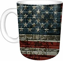 Keramik Keramikbecher American Striped Flag On