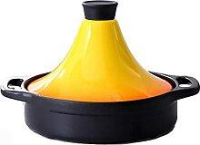 Keramik-Kochtopf Gusseisen-Topf mit Deckel 20cm