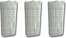 Keramik Luftbefeuchter Verdunster Wasserverdunster für Heizung Heizkörper Flachverdunster weiss Haus-Dekor mit Aufhänger (3)