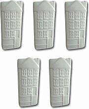 Keramik Luftbefeuchter Verdunster Wasserverdunster für Heizung Heizkörper Flachverdunster weiss Haus-Dekor mit Aufhänger (5)