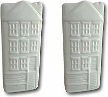Keramik Luftbefeuchter Verdunster Wasserverdunster für Heizung Heizkörper Flachverdunster weiss Haus-Dekor mit Aufhänger (2)