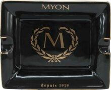 Keramik Marken - Zigarrenaschenbecher Marke MYON Paris Humidor Schwarz