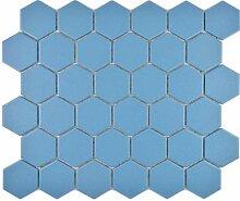 Keramik Mosaik Hexagon blaugrün R10B Duschtasse