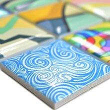 Keramik Mosaikfliesen Achilles Popartoptik Bunt |