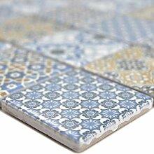 Keramik Mosaikfliesen Daymion Retrooptik Blau