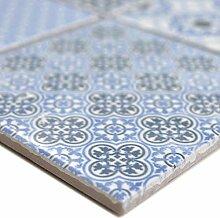 Keramik Mosaikfliesen Daymion Retrooptik Blau |