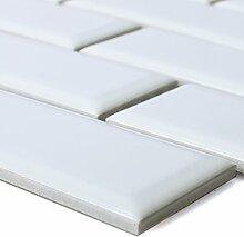 Keramik Mosaikfliesen Devon Metro Facette Weiß |