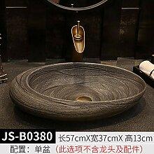 Keramik Oval über Theke Becken Waschbecken