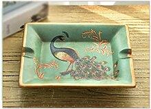 Keramik Pfau Dekoration Aschenbecher Creative Dekoration Handwerk