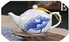 Keramik-Reisebüro Tee-Set einzelne Teekanne Blaue