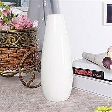 Keramik Schnee weiße Vase, B für Mittelstücke Wohnzimmer Weihnachten Geburtstag Hochzeit Party Geschenk Desktop Home Decor