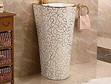 Keramik-Standwaschbecken Balkonboden Bad