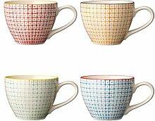 Keramik tasse (Set von 4)